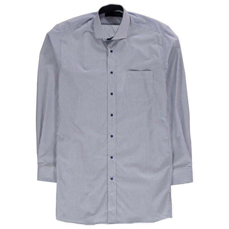 Jonathon Charles Charles Long Sleeve Shirt Blue Check