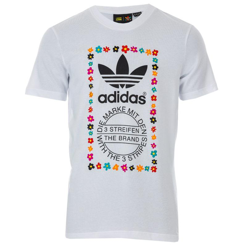 Tričko Adidas Originals Mens Pharrell Williams Graphic T-Shirt White Black
