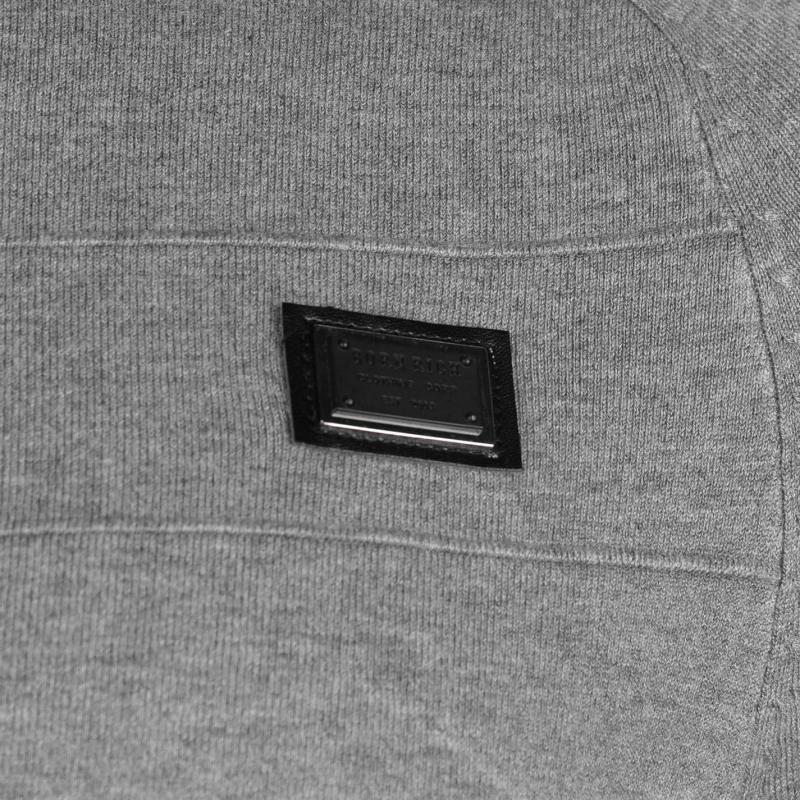 Mikina Born Rich Antimony Knitted Sweatshirt Mens Black