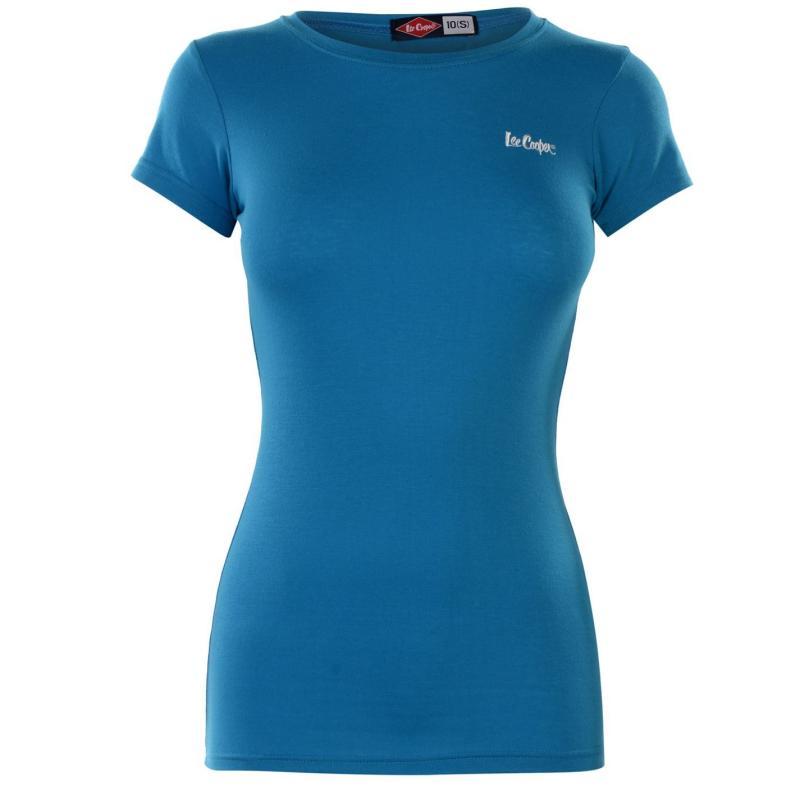 Tričko Lee Cooper Casual T Shirt Ladies Turquoise