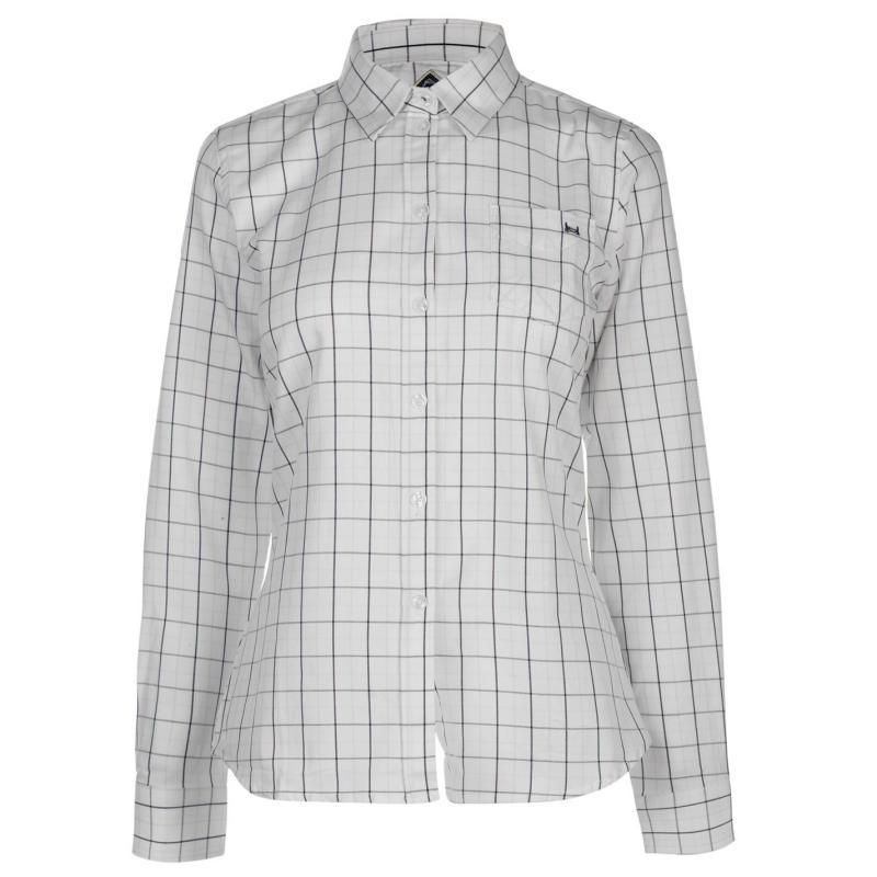 Košile Hac Tac Check Shirt Ladies White/Burg