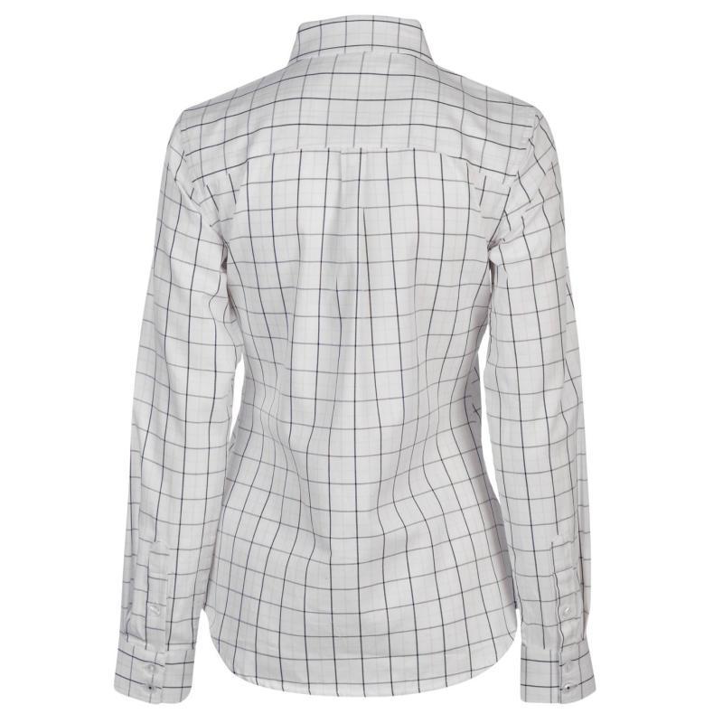 Košile Hac Tac Check Shirt Ladies Wht/Blu/Pnk