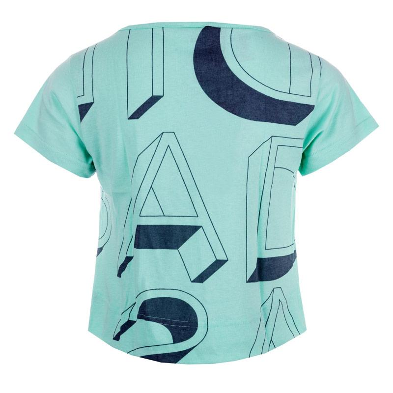 Adidas Performance Junior Girls Graphic Lineage T-Shirt Mint