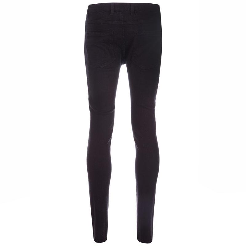 D-Struct Mens Almaya 5 Pocket Skinny Jeans Black