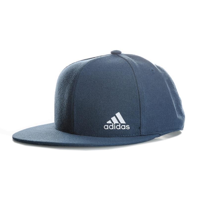 Adidas Performance Mens Flat Peaked Cap Blue