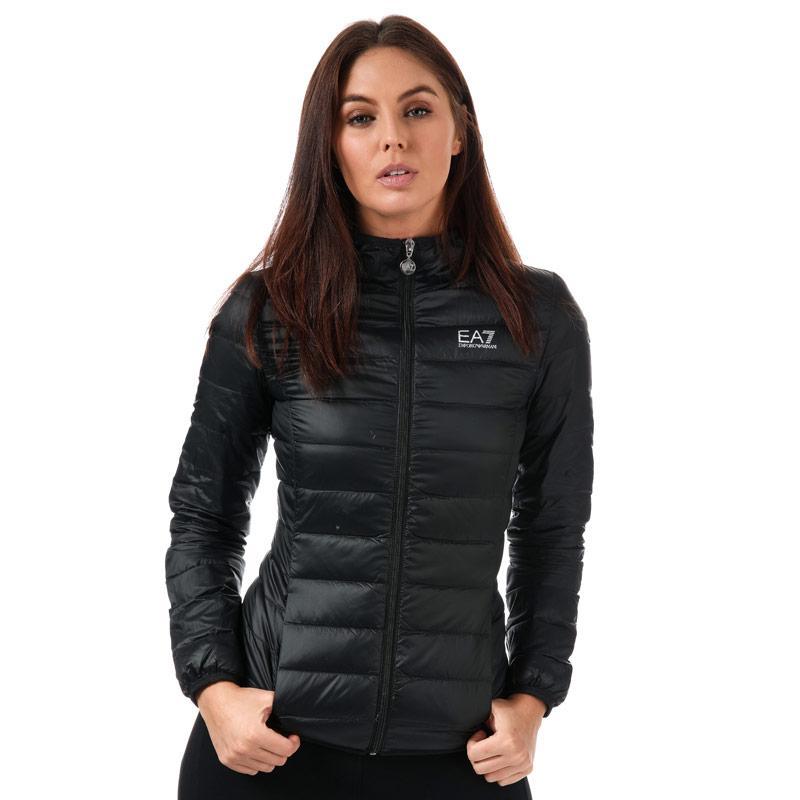 Emporio Armani EA7 Womens Logo Down Jacket Black