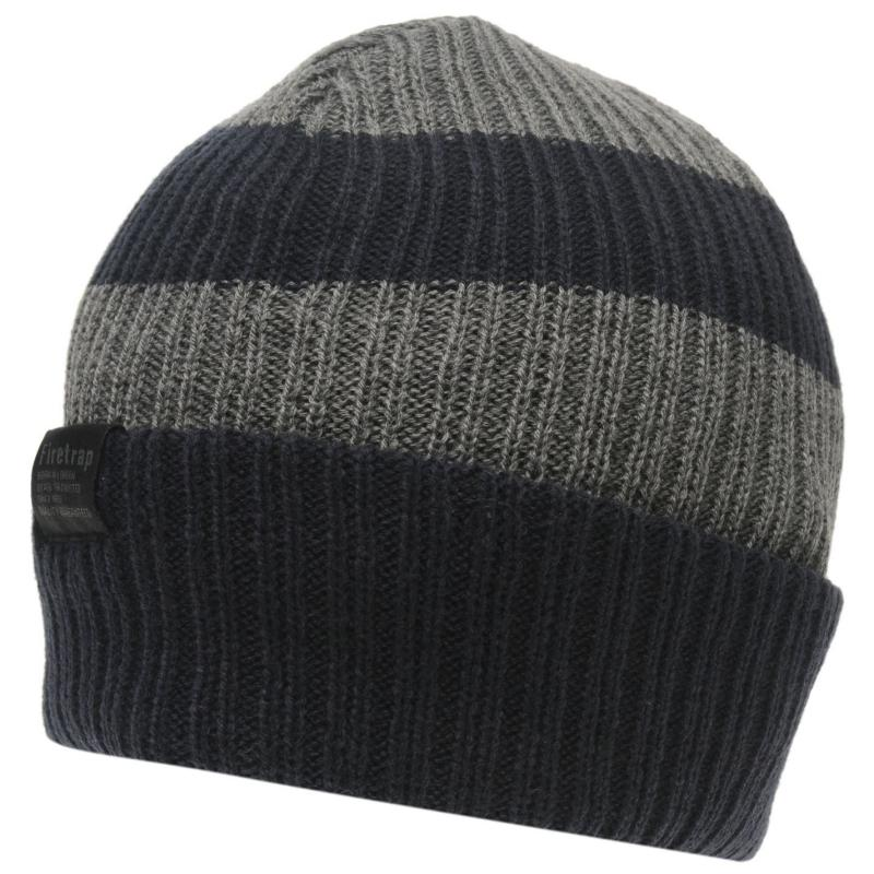Firetrap Chunky Hat Junior Charcoal/Navy