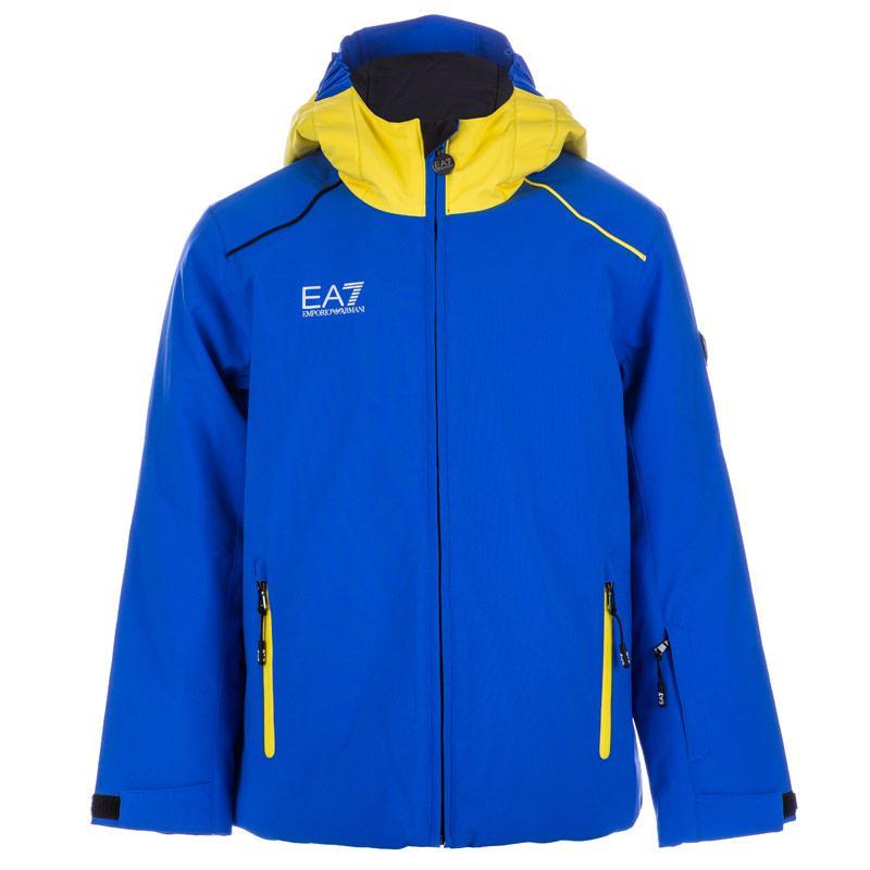 Bunda Emporio Armani EA7 Junior Boys Mountain Ski Performance Jacket Blue