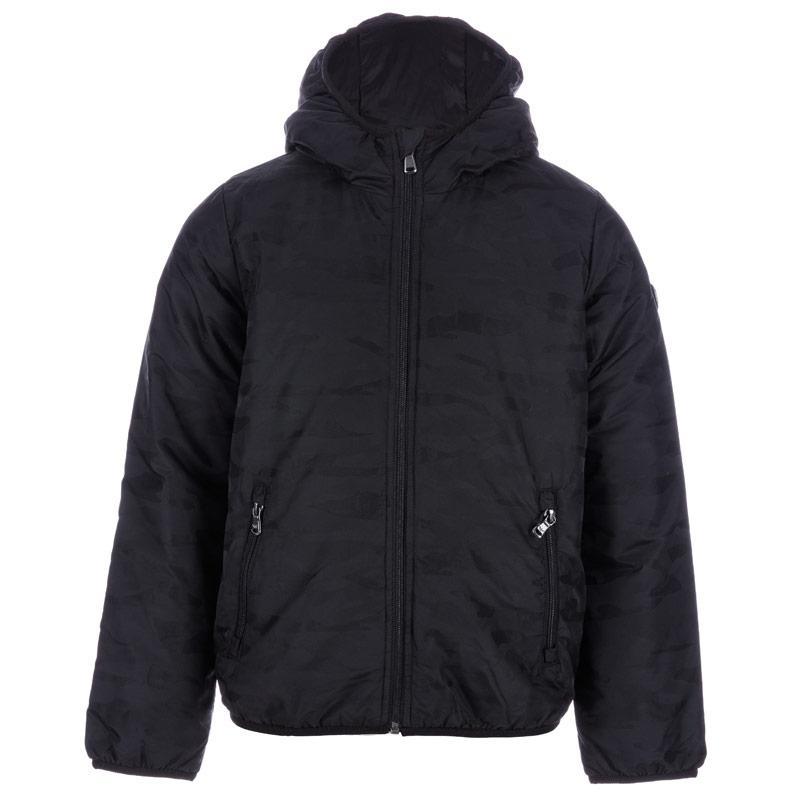 Bunda Emporio Armani EA7 Junior Boys Training Camo Jacket Black