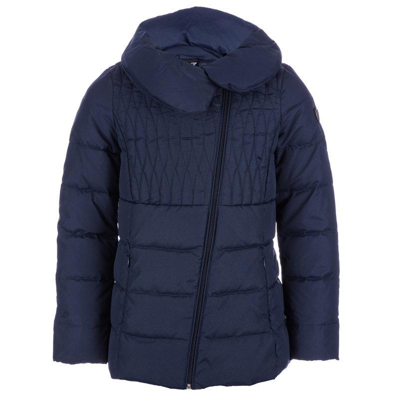 Emporio Armani EA7 Junior Girls Mountain Shiny Down Jacket Navy