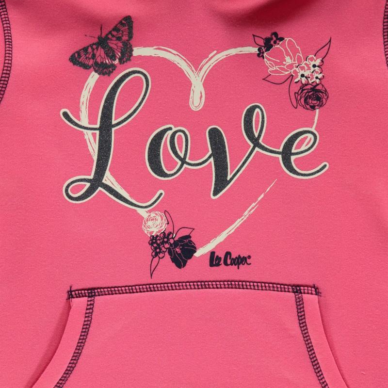 Lee Cooper Glitzy OTH Sweater Junior Girls Grey Marl