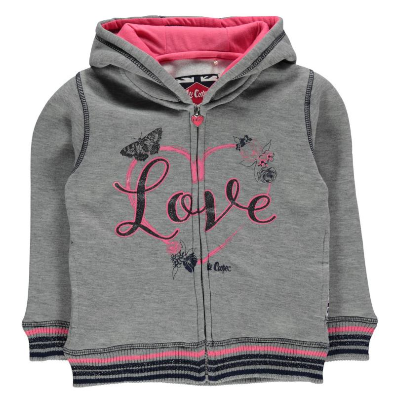 Lee Cooper Glitzy Zipped Sweater Infant Girls Navy