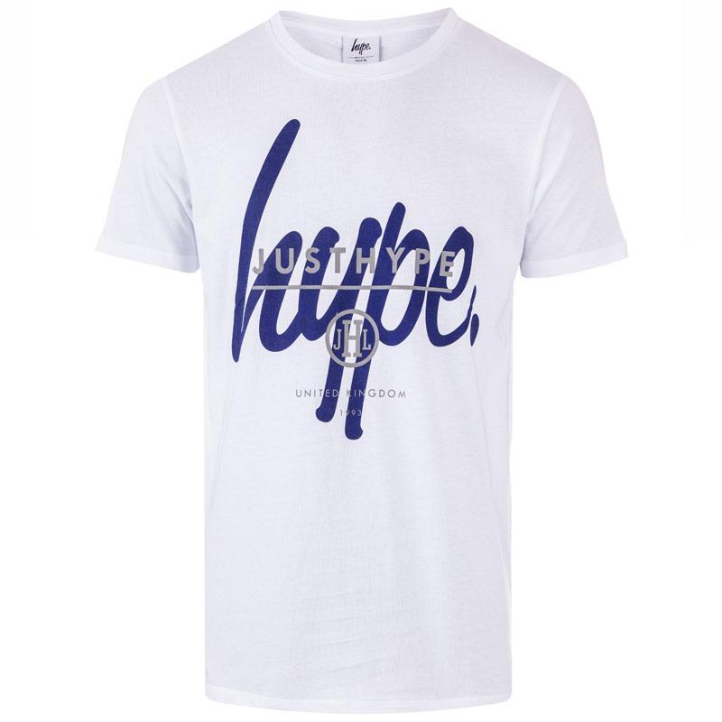 Tričko Hype Mens Overlay T-Shirt White