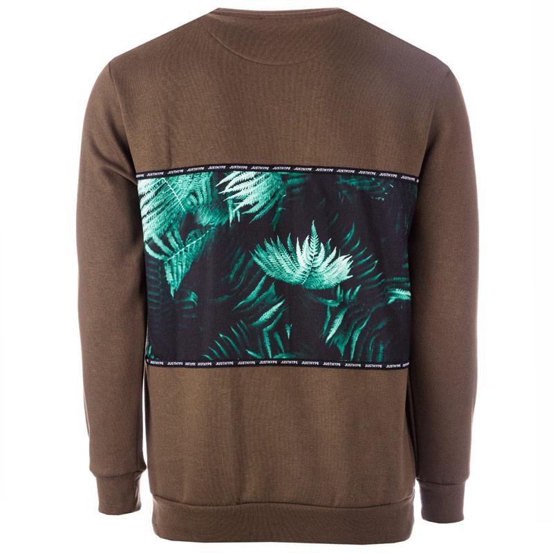 Mikina Hype Mens Khaki Fern Sub Sweatshirt Green