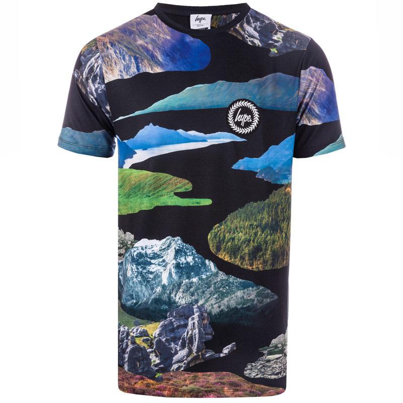Tričko Hype Mens Landax Sub T-Shirt Multi colour