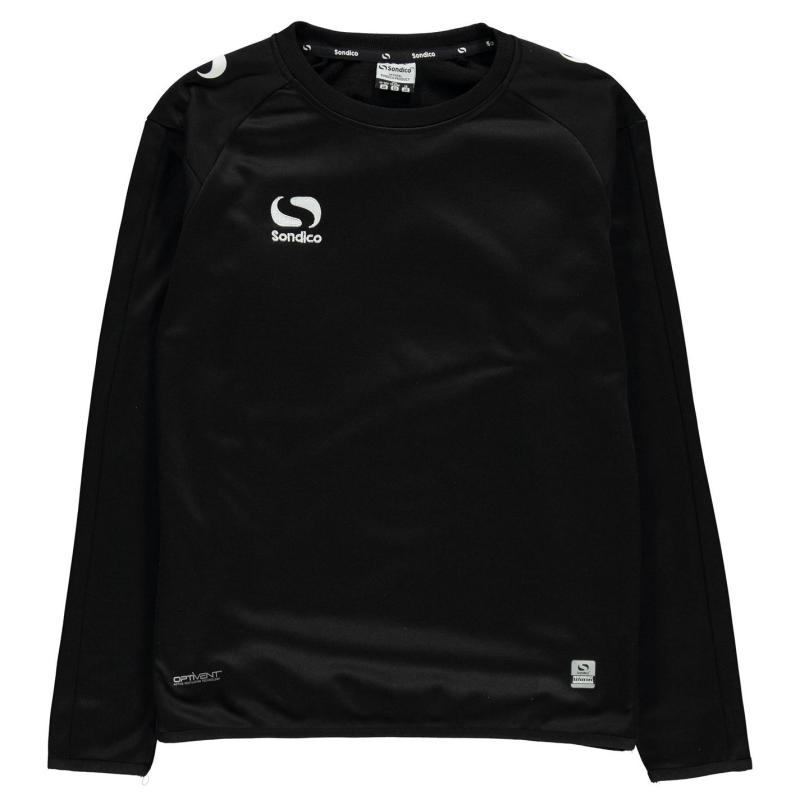 Mikina Sondico Strike Crew Sweater Junior Boys Black/White