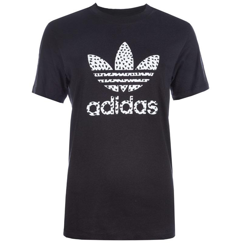 Adidas Originals Junior Girls Trefoil T-Shirts Black