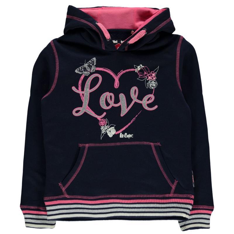 Lee Cooper Glitzy OTH Sweater Junior Girls Navy