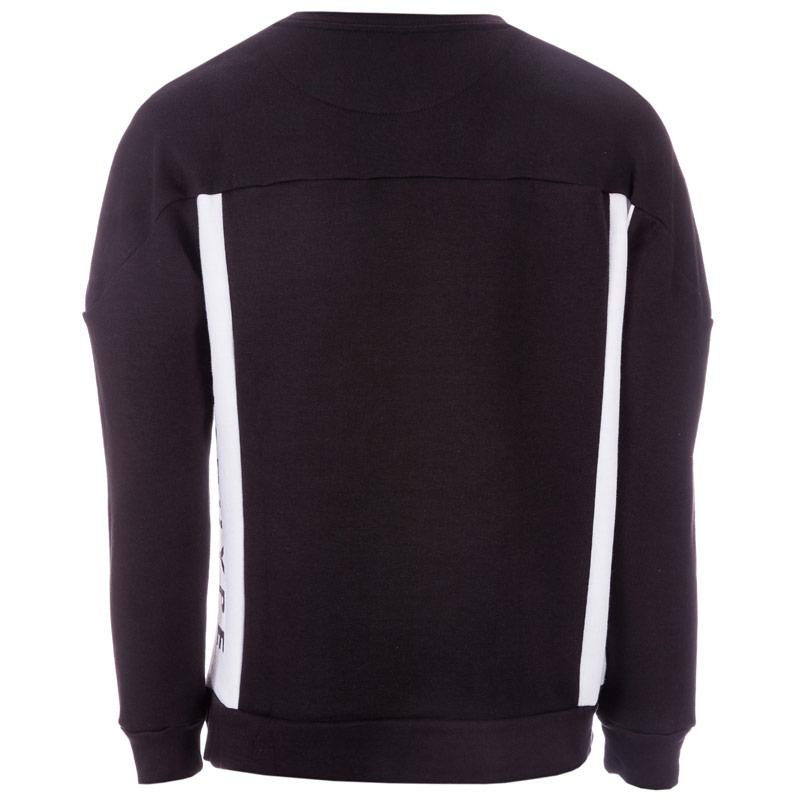 Mikina Mens Just Hype Side Crew Sweat Black
