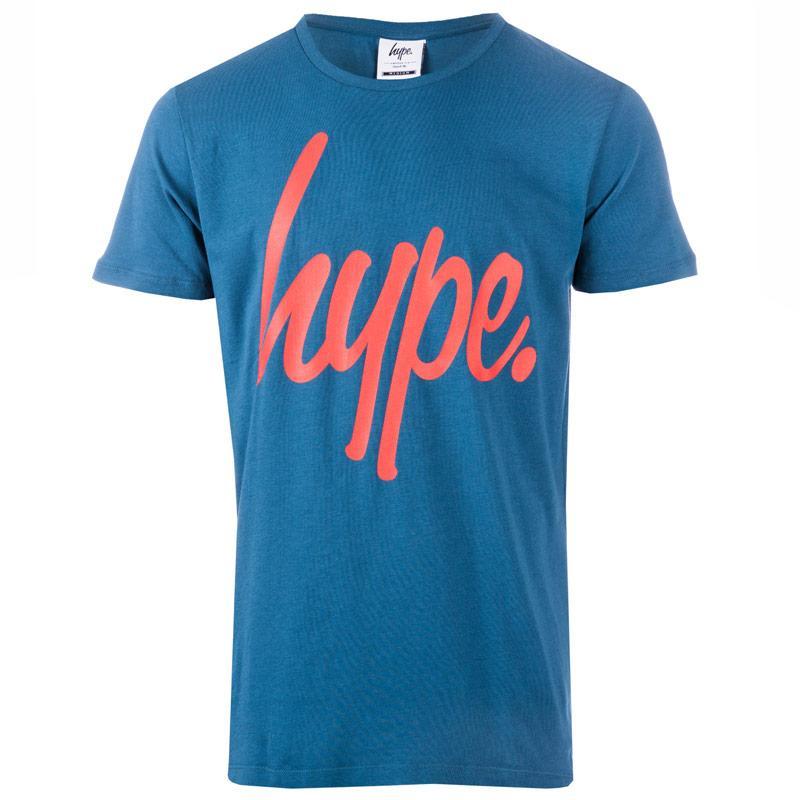 Tričko Hype Mens Script T-Shirt Indigo