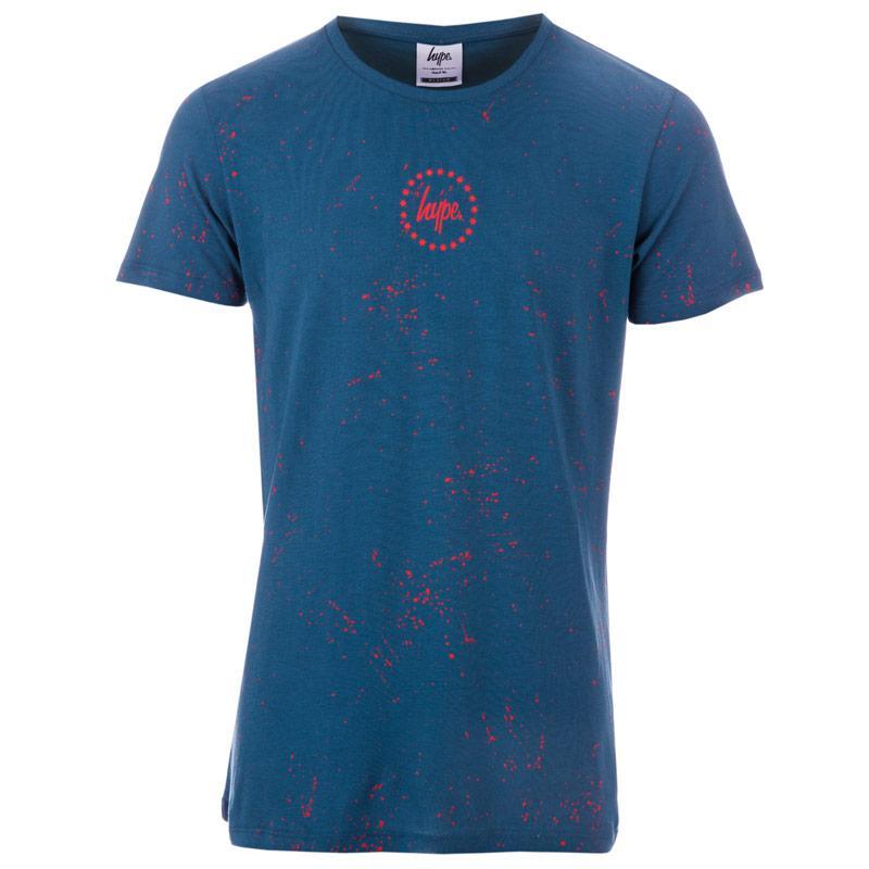 Tričko Hype Mens Splat T-Shirt Indigo