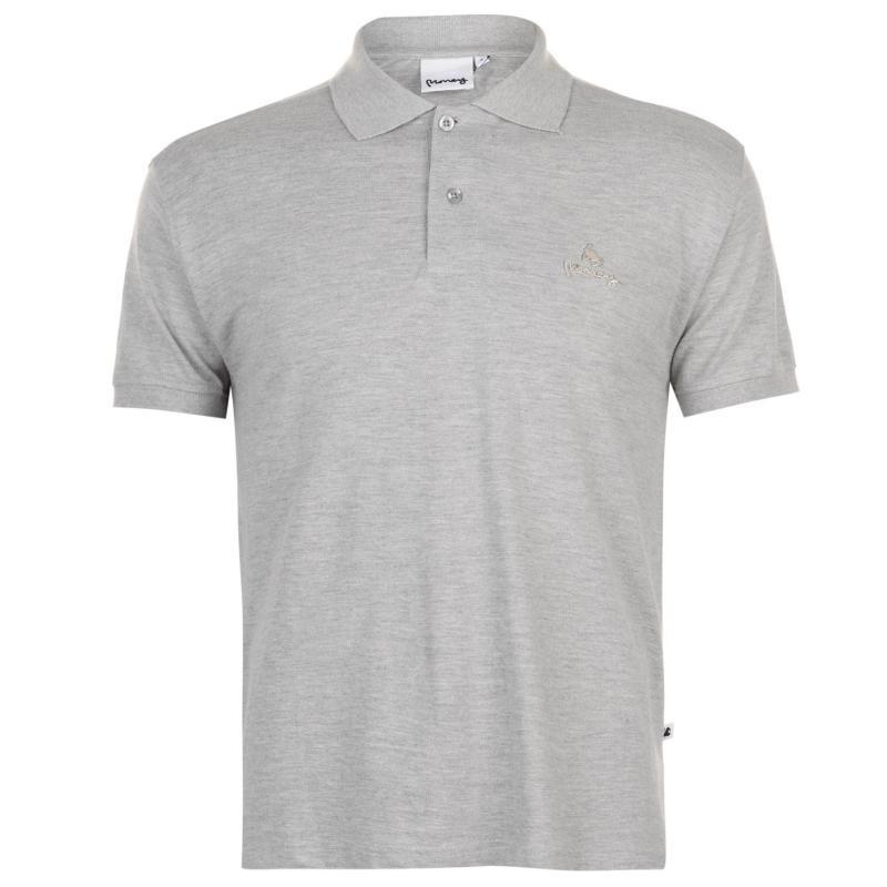 Money Ante Polo Shirt Mens Lt Grey
