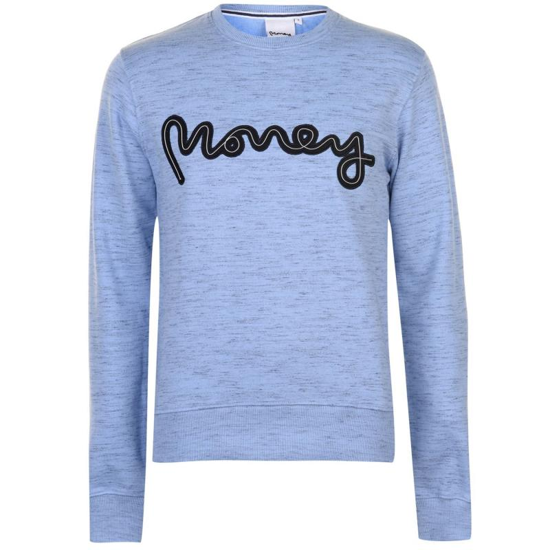 Mikina Money Rope Sig Crew Sweater Mens Forever Blue
