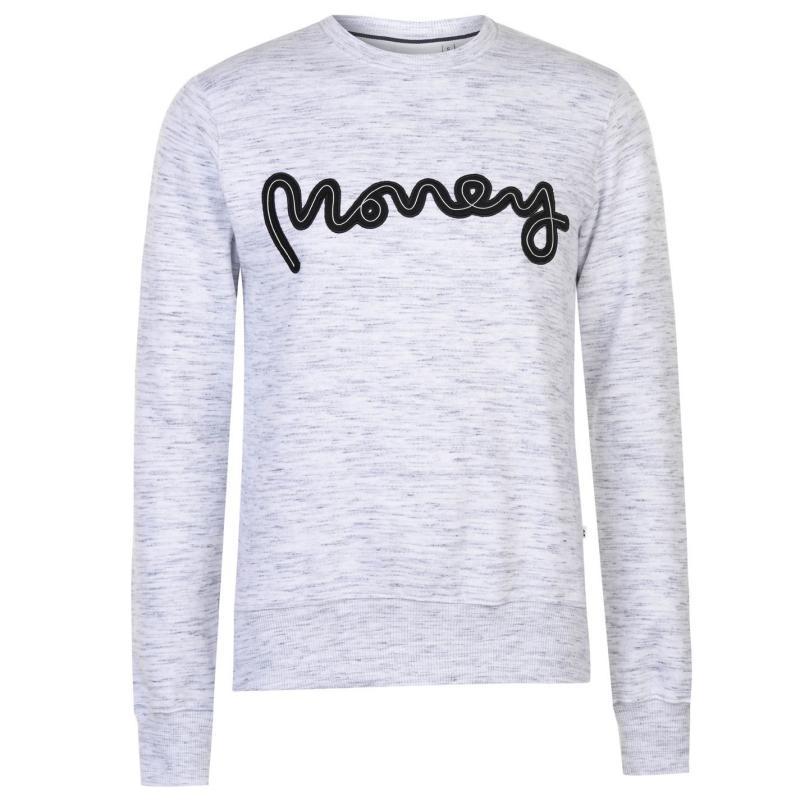 Mikina Money Rope Sig Crew Sweater Mens White