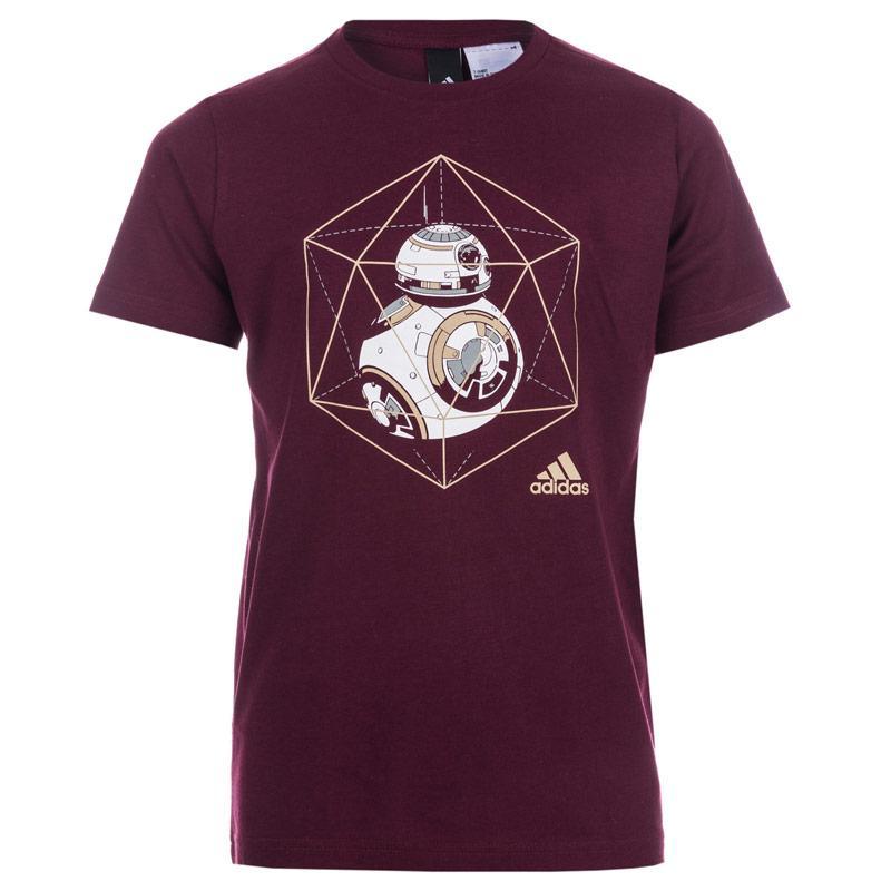 Tričko Adidas Performance Infant Boys Star Wars BB-8 T-Shirt Burgundy