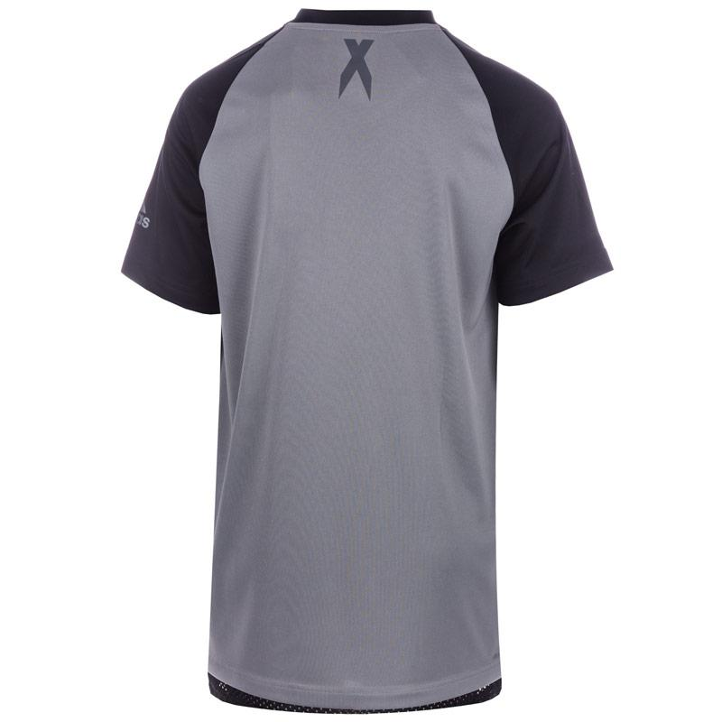 Tričko Adidas Performance Junior Boys Urban Football T-Shirt Grey Heather