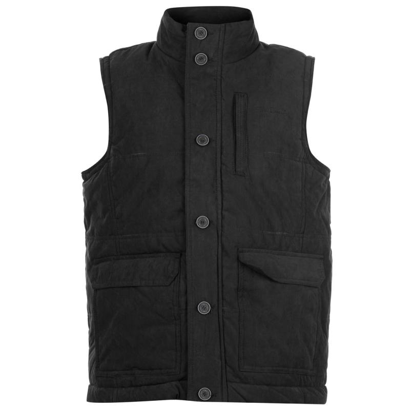 Pierre Cardin Padded Gilet Mens Black