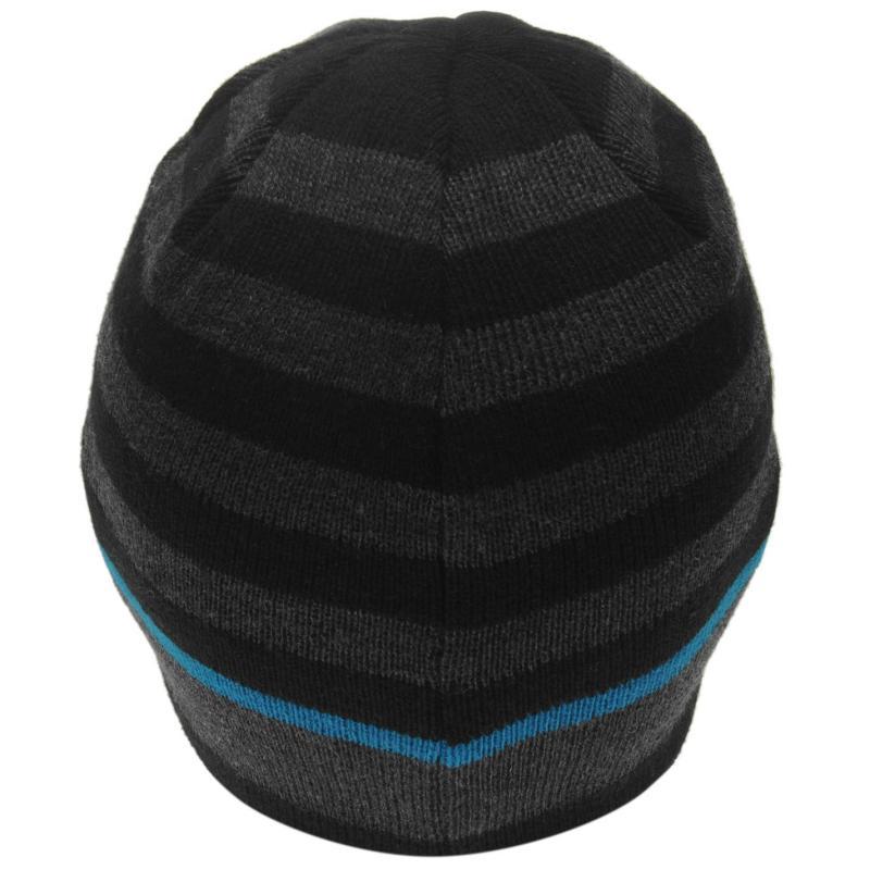 Firetrap Pull On Hat Mens Black/Charcoal
