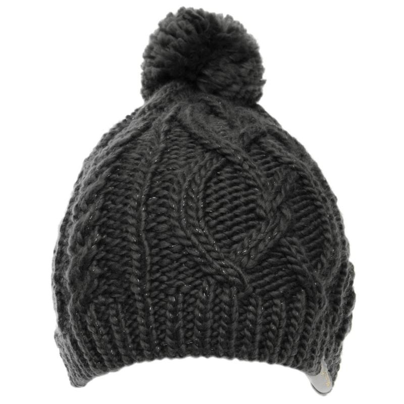 Golddigga Cable Hat Ladies Black