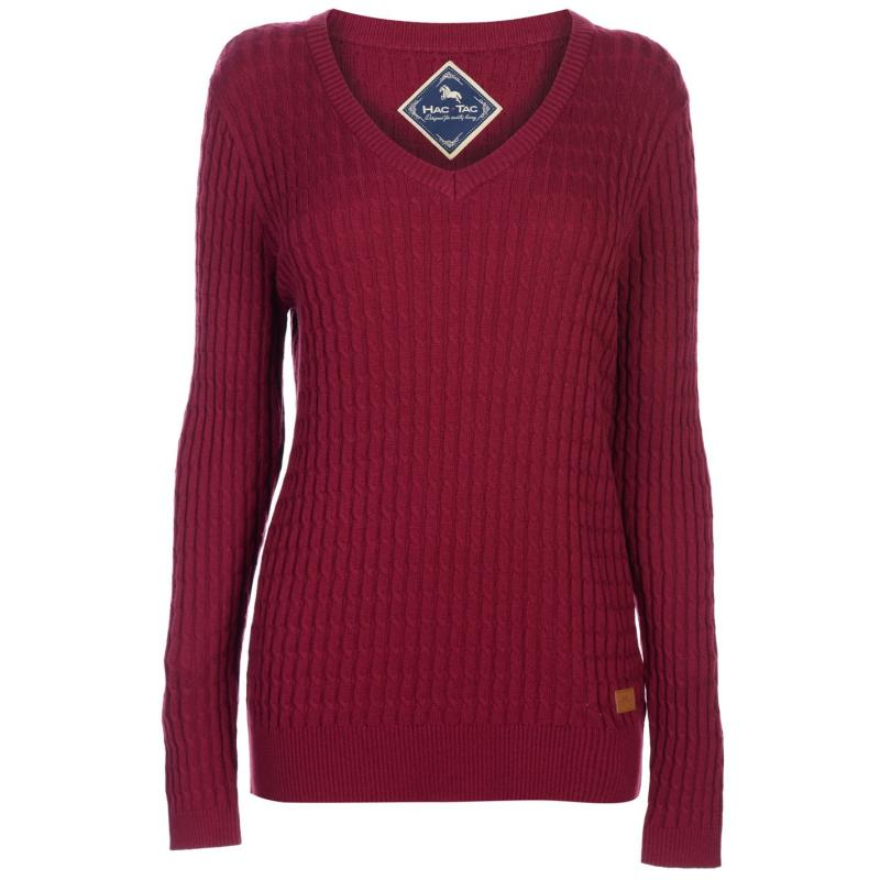 Mikina Hac Tac Cable Knit Jumper Navy