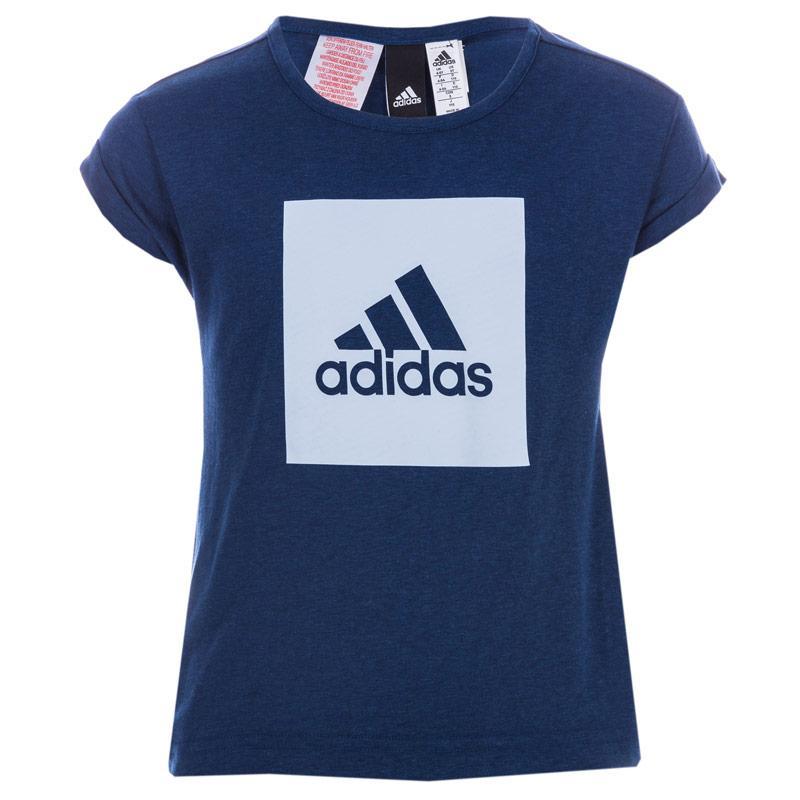 Adidas Performance Infant Girls Essential Logo Loose T-Shirt Blue