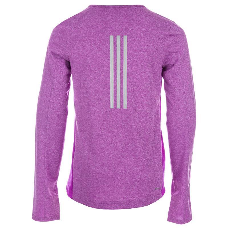 Adidas Performance Junior Girls Response Running T-Shirt Purple