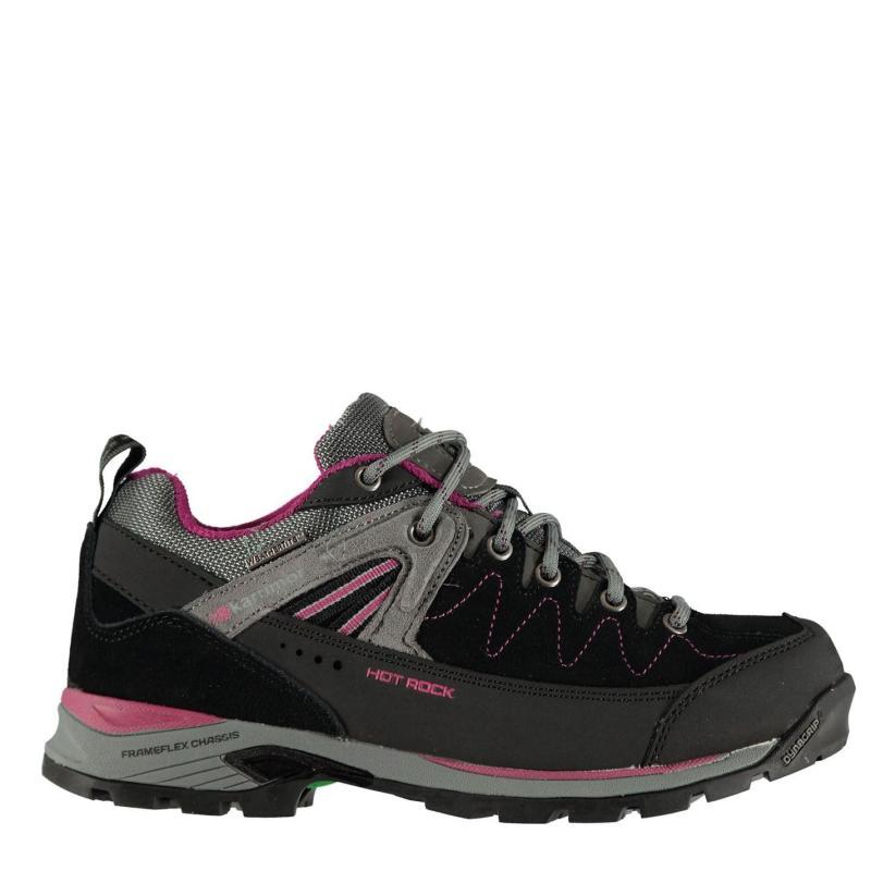Boty Karrimor Hot Rock Low Ladies Walking Shoes Black/Pink