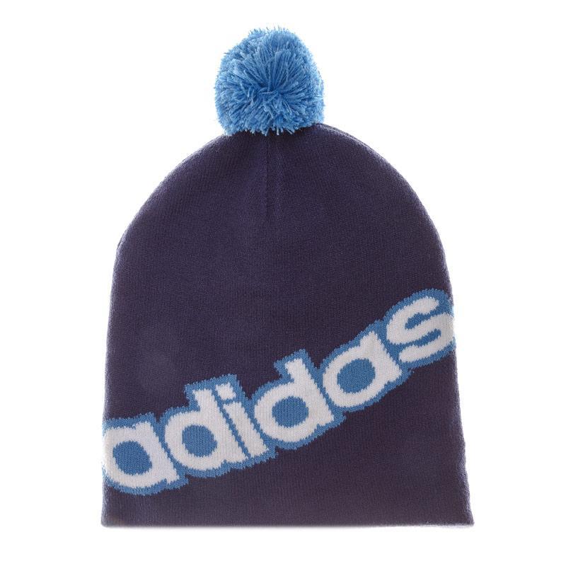 Adidas Performance Linear Pom Pom Beanie Blue