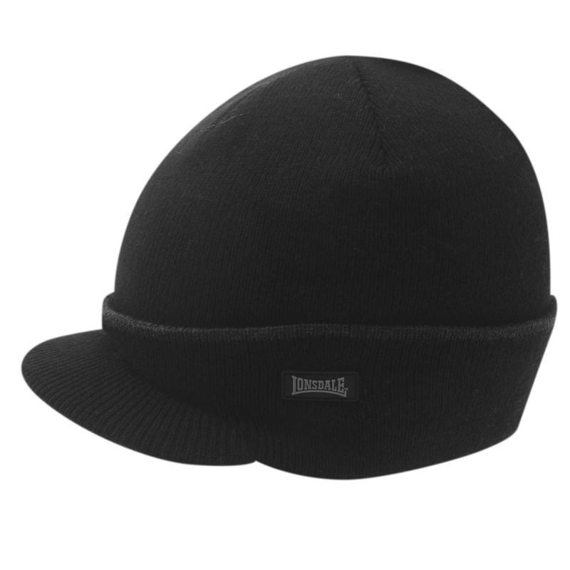 Lonsdale Peak Hat Mens Black