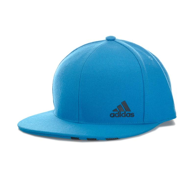 Adidas Performance Mens Flat Peaked Fitted Cap Blue