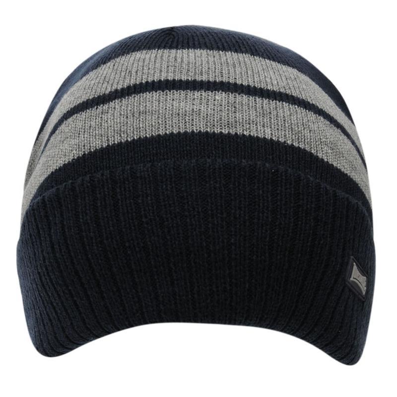 Lonsdale Turn Up Hat Junior Boys Navy