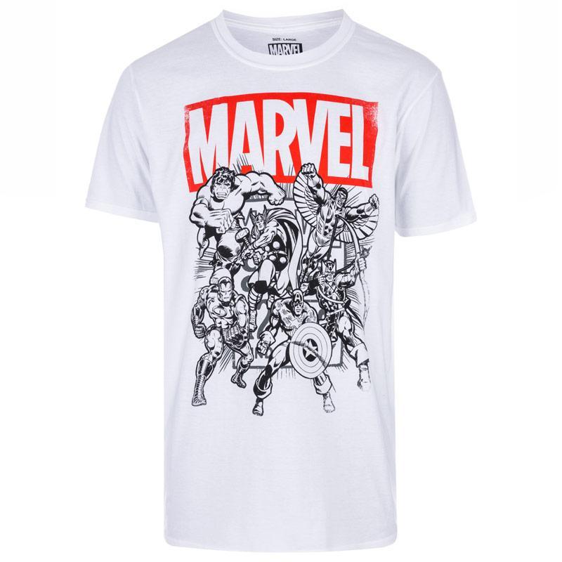 Tričko Mens Marvel Collective T-Shirt White