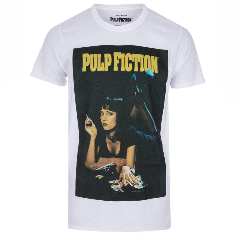 Tričko Get The Label Mens Pulp Fiction T-Shirt White