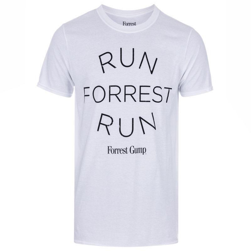 Tričko Get The Label Mens Run Forrest T-Shirt White