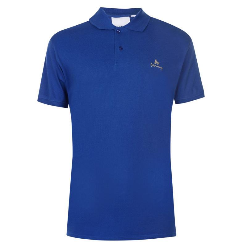 Money Ante Polo Shirt Mens Mazarine Blue