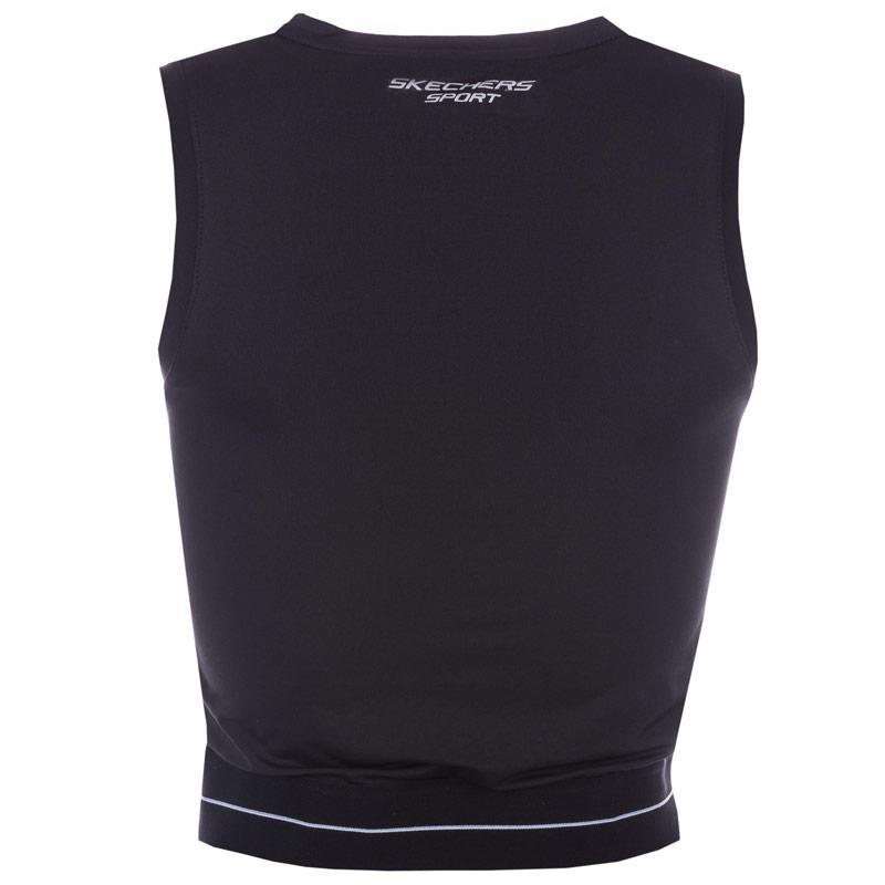 Skechers Womens Una Double Layer Crop Top Black