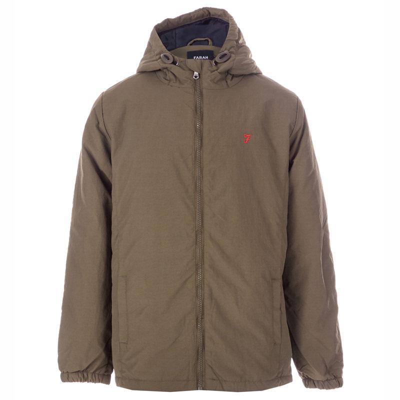Bunda Farah Junior Boys Nylon Windbreaker Jacket Khaki