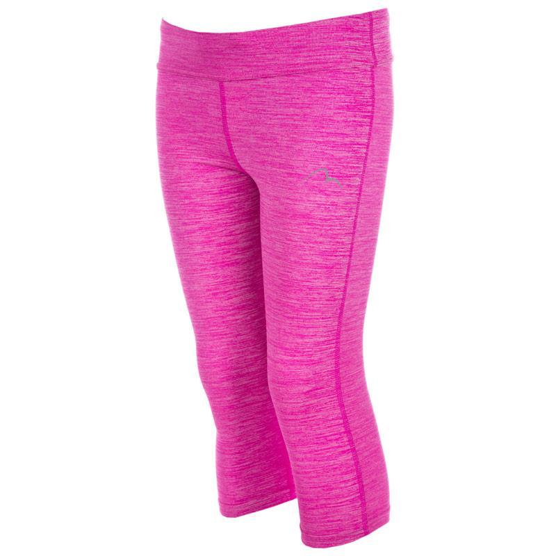 More Mile Junior Girls Capri 3/4 Running Tights Pink