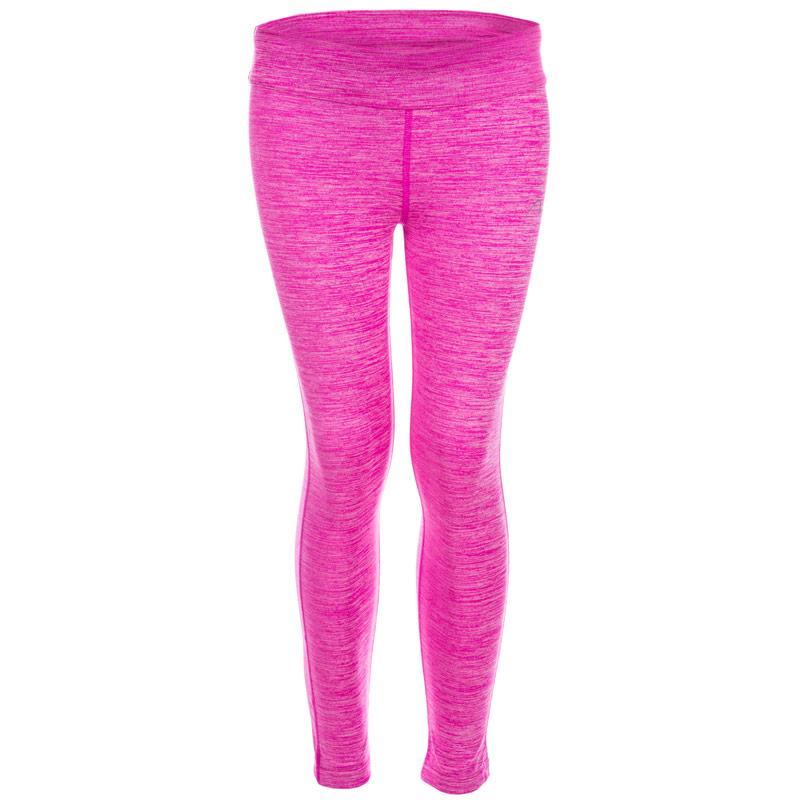 More Mile Junior Girls Running Tights Pink