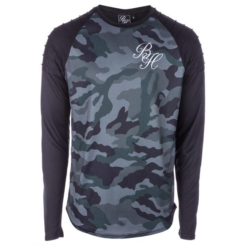 Tričko Beck And Hersey Mens Long Sleeve T-Shirt Camo